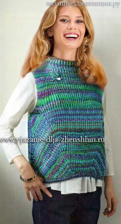 вязаные жилеты спицами вязание Knitting вязаный жилет вязание