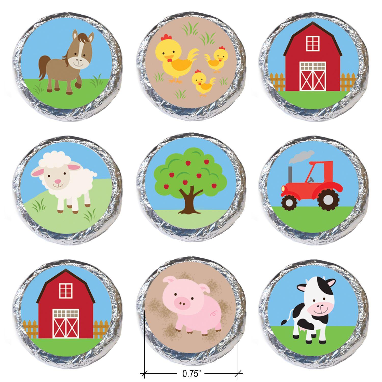 Barnyard Party Farm Animals Stickers