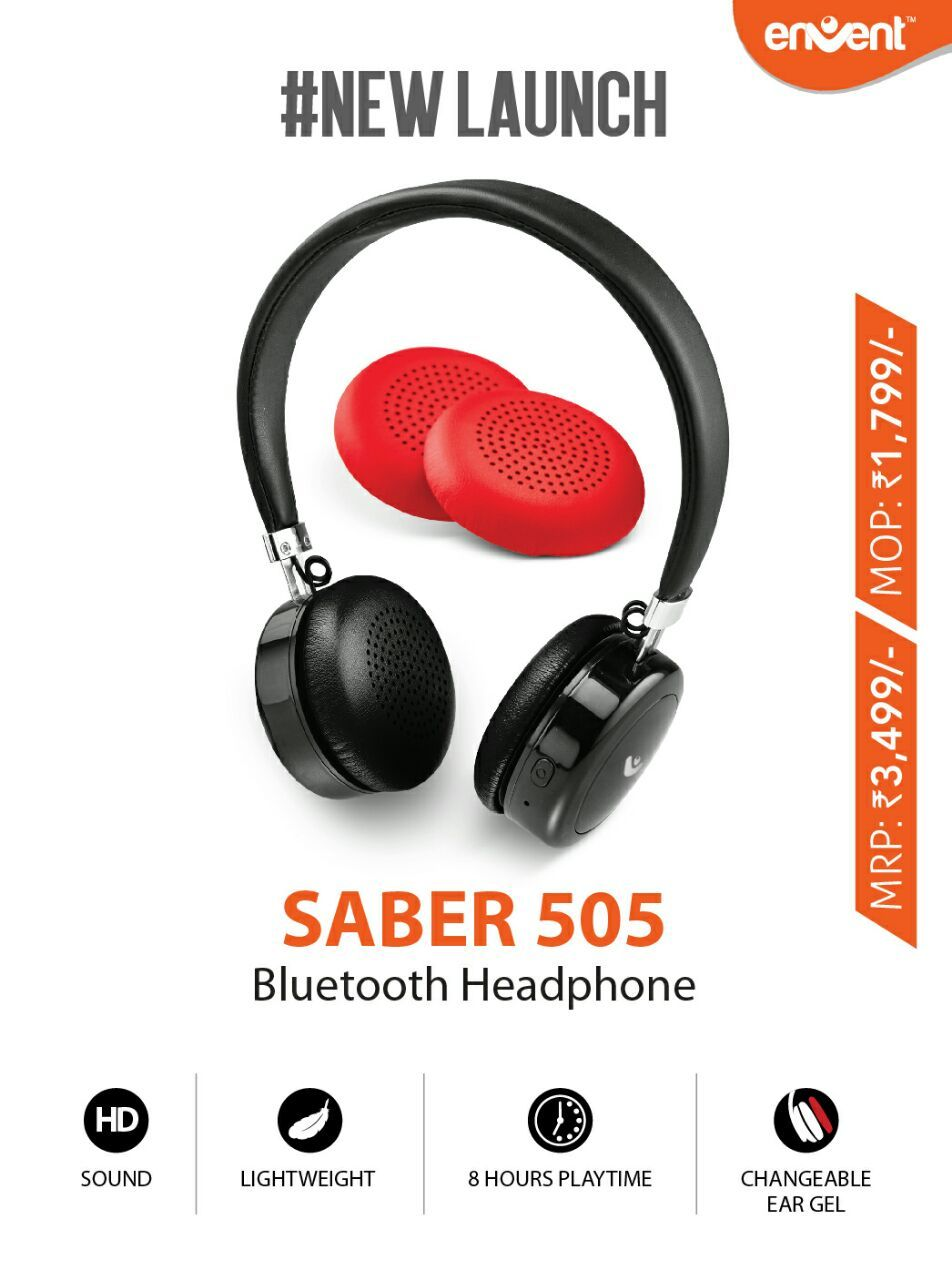 74410f5ec54 #Envent Saber 505 #Wireless #Bluetooth #Headphone With Mic, On- Ear, Dual  Pairing Headphone with great quality sound & comfort. Buy Online : #Amazon  # ...