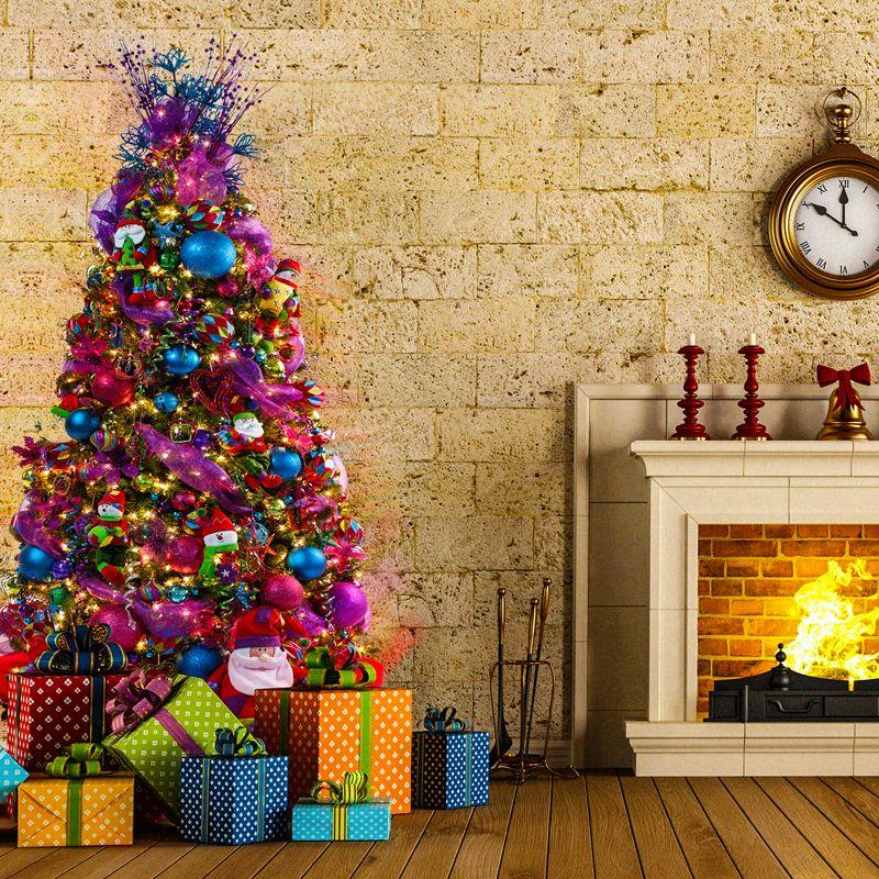 Arbol en rosa y azul navidad pinterest azul - Arboles de navidad rosa ...