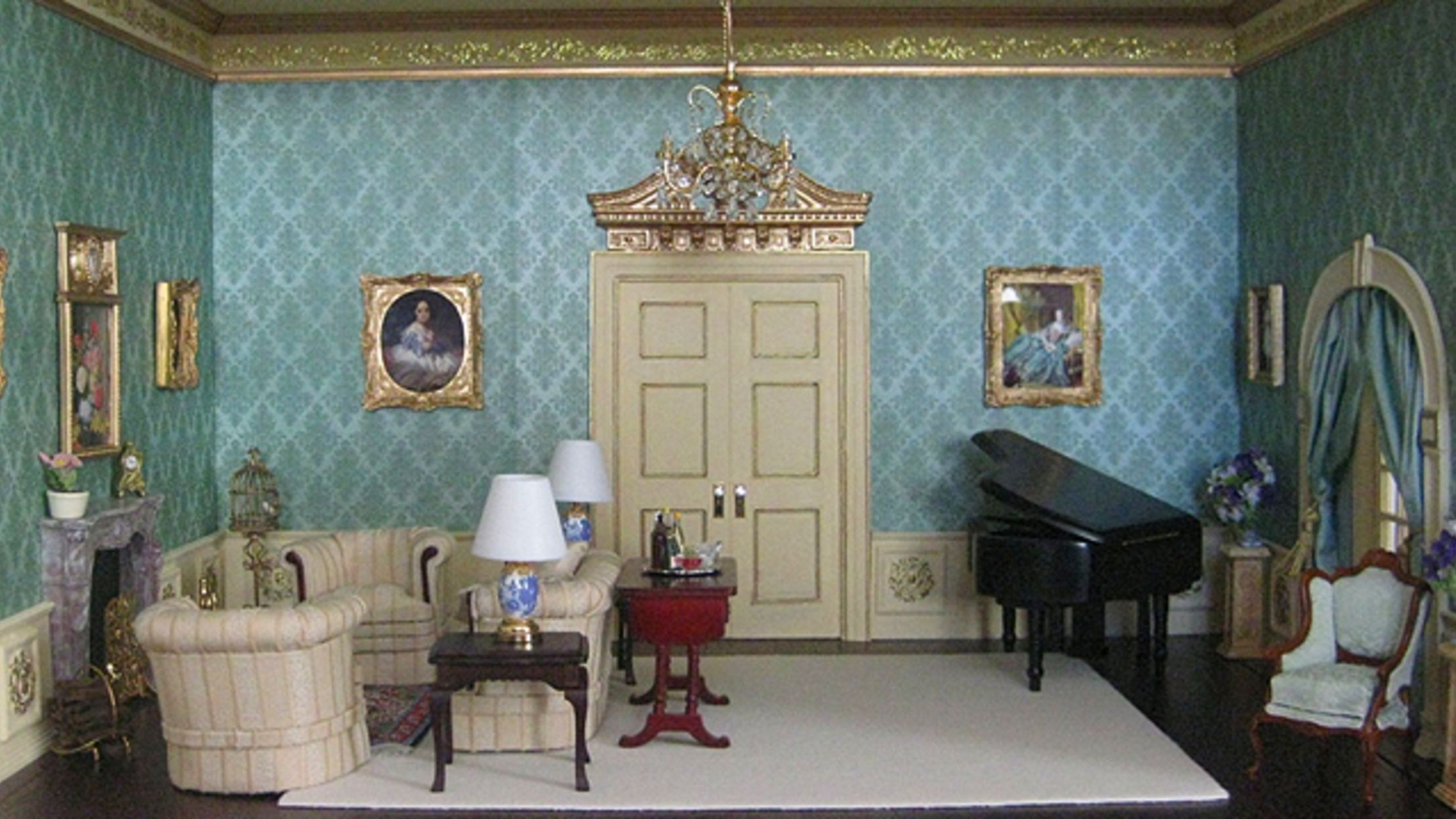 16 Intricate Miniature Rooms Miniature Rooms Dollhouse Living Room Dolls House Interiors