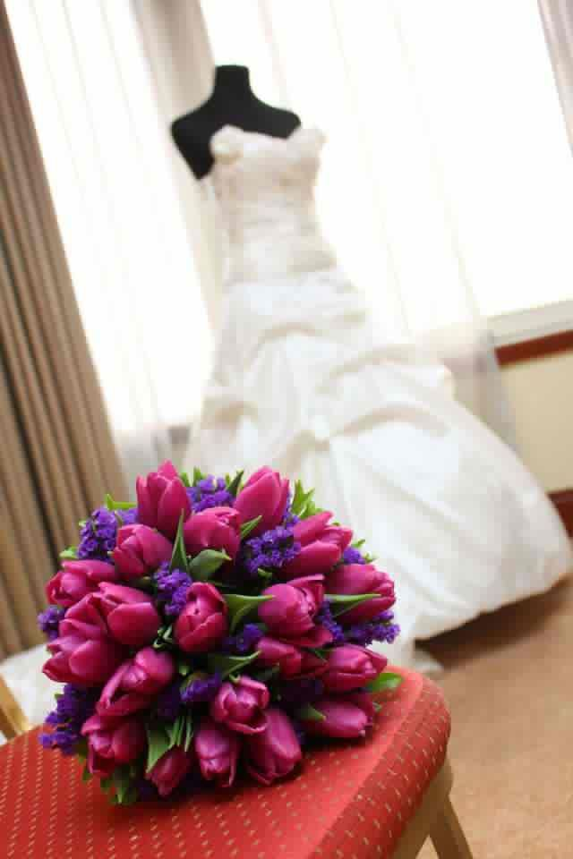 Pin By Dangwaflorist On Bridal Bouquets And Brides Tulip Bridal Bouquet Bridal Bouquet Industrial Wedding