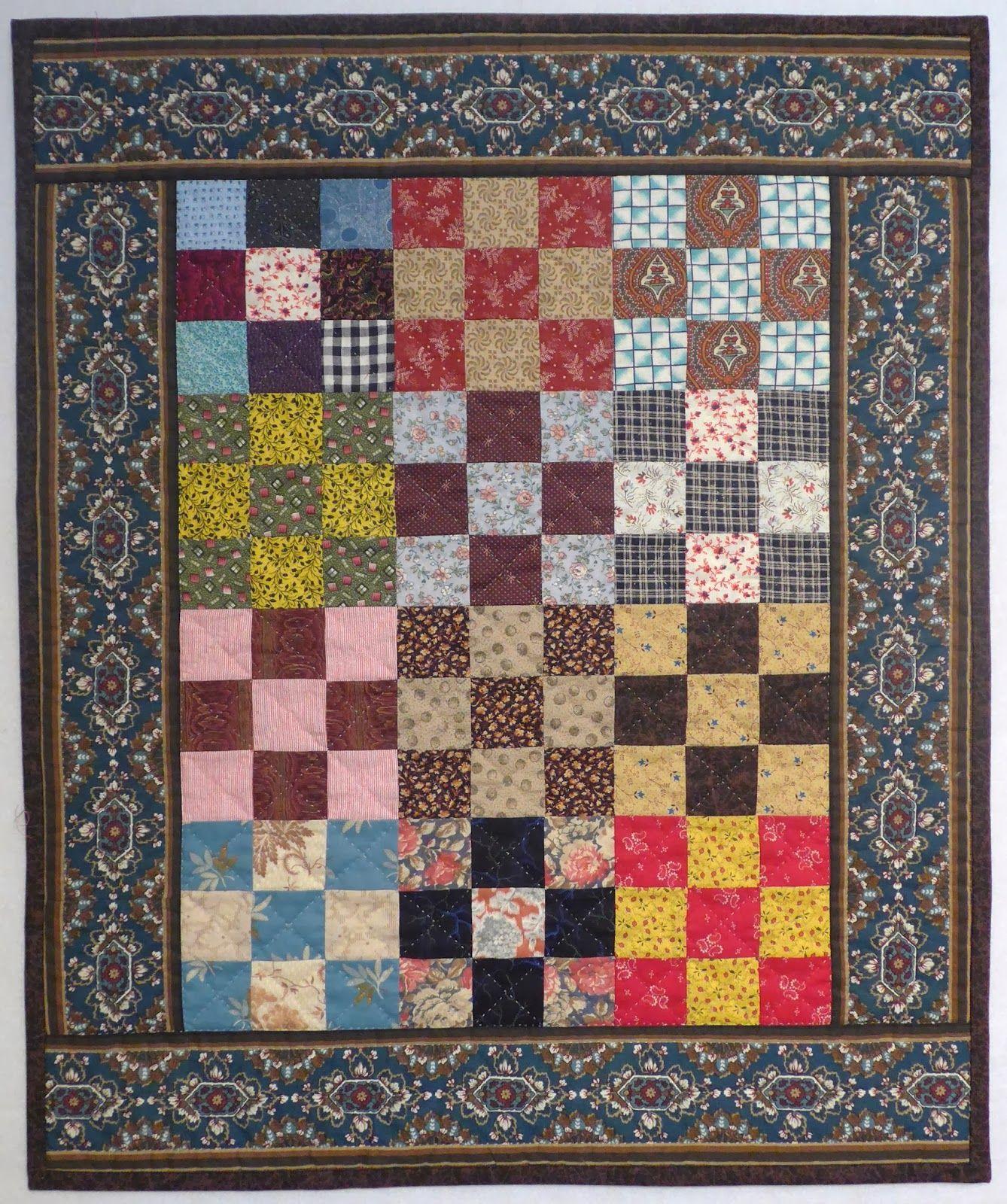Quilts, Gravestones, and Elusive Ancestors: Scrappy 9, 9-Patch