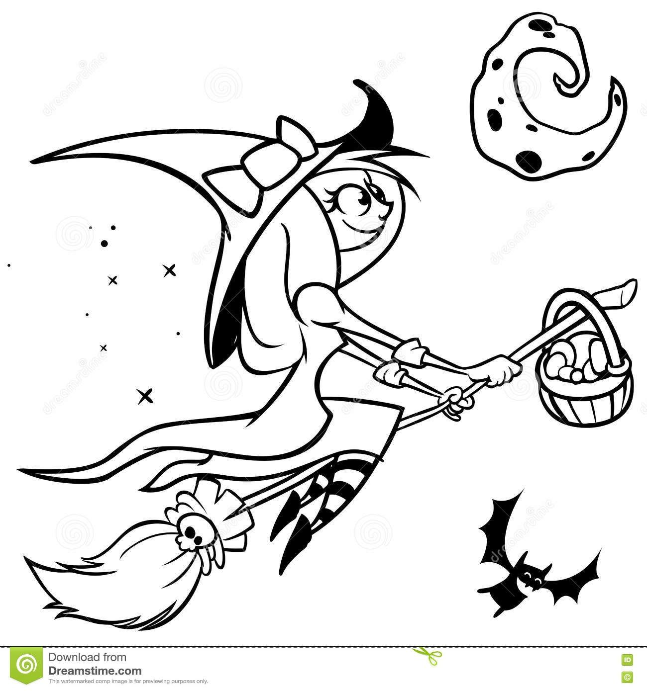 Witch Clipart Black And White Ideas Witch Clipart Clipart Black And White Black And White Cartoon