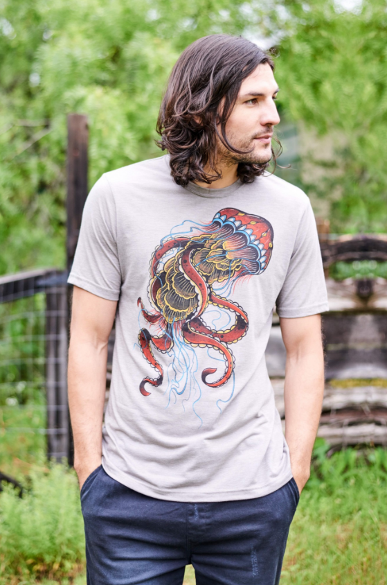 Jellyfish T-shirt. #earthboundtrading