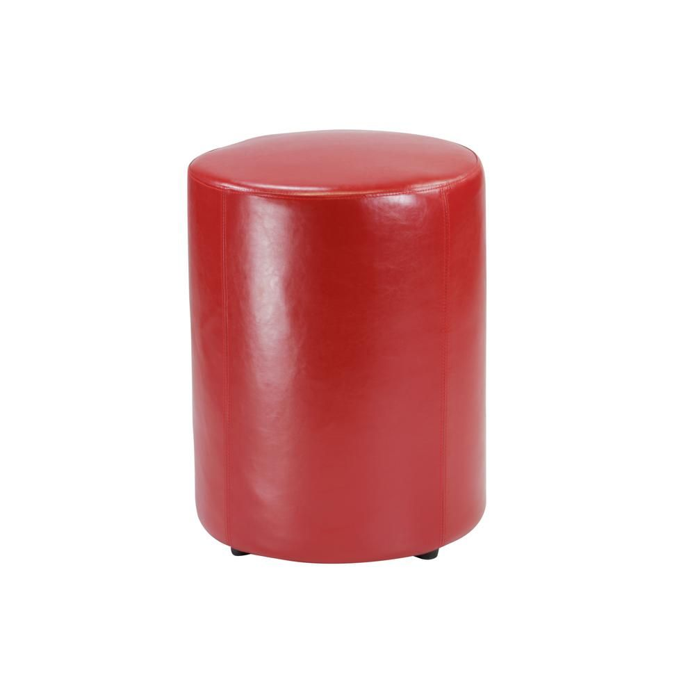 Peachy Round Stool Metal With Red Seat Cushion 60S Metal Stool In Uwap Interior Chair Design Uwaporg