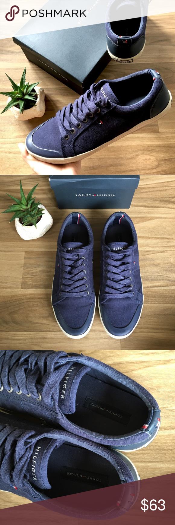 b39c6cd8e9f211 TOMMY HILFIGER 🇳🇱 Men s Canvas Sneakers Tennis Navy blue sneakers by TOMMY  HILFIGER! ♢