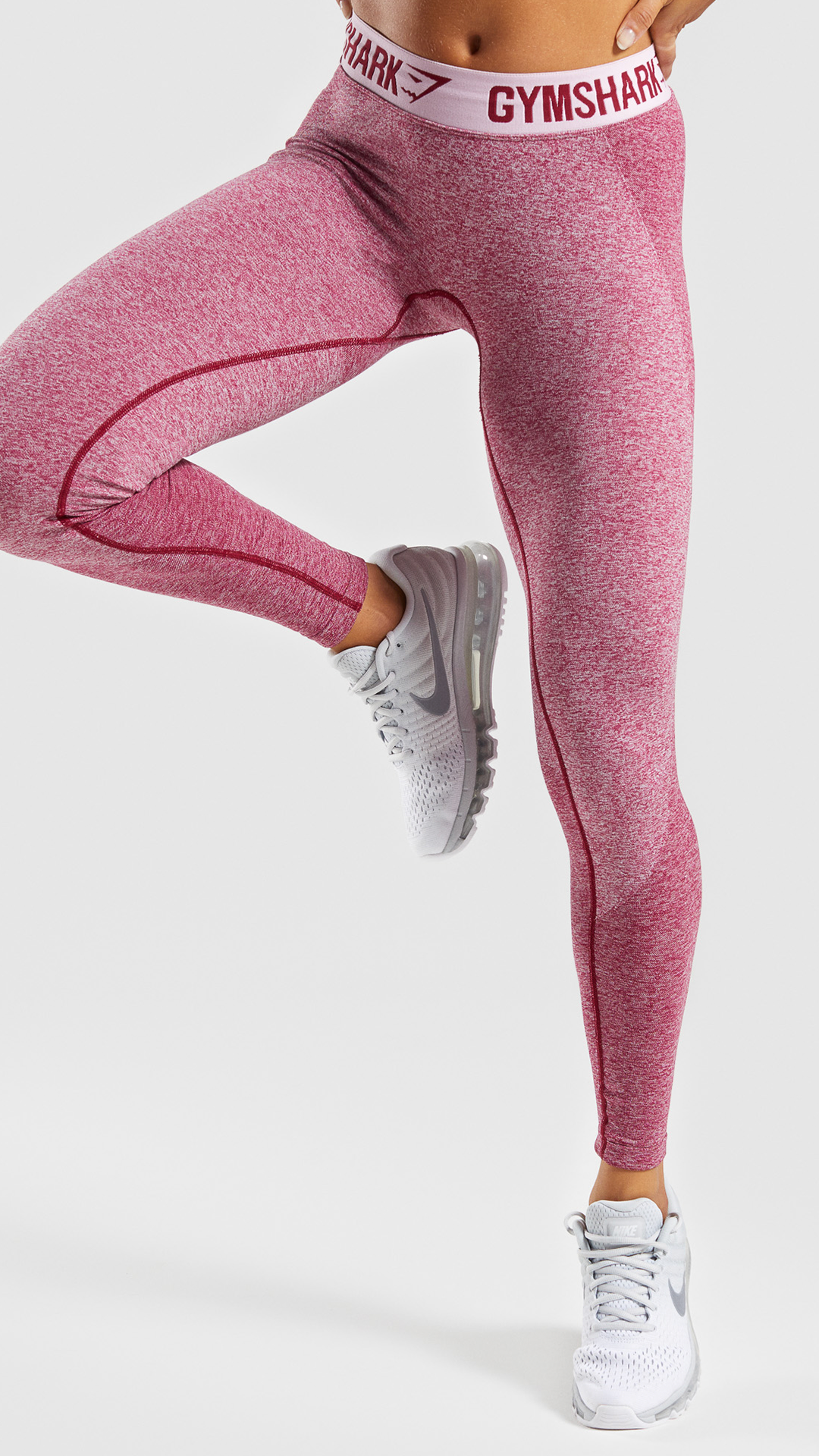 5c362cb9e2d46 Gymshark Flex Leggings, Beet Marl/ Chalk Pink. Combining our signature  seamless knit with superior, sculpting design. #Gymshark #Workout #Flex  Leggings #New ...