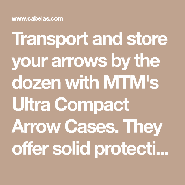 abb80ec8d026d Transport and store your arrows by the dozen with MTM's Ultra Compact Arrow  Cases. They offer solid protection for the pieces