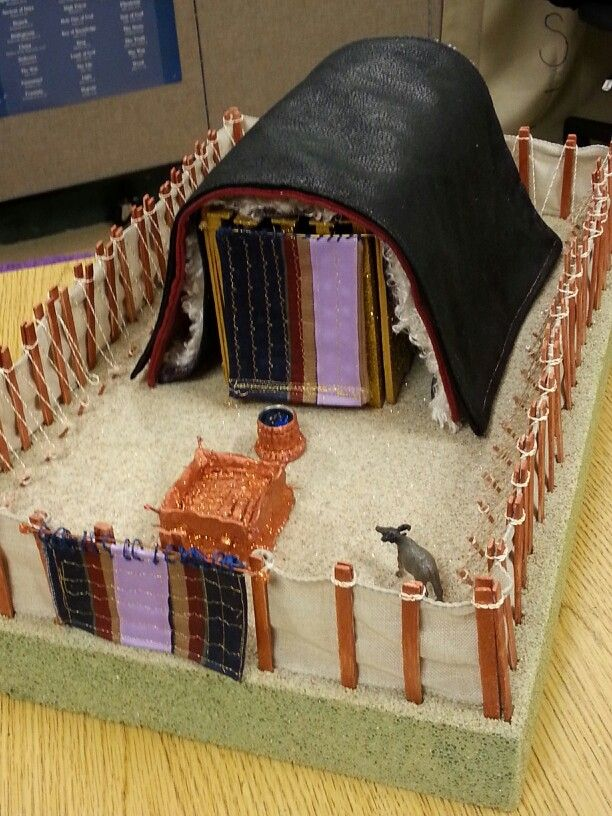 Finished coverings tabernacle model pinterest sunday for Building the tabernacle craft