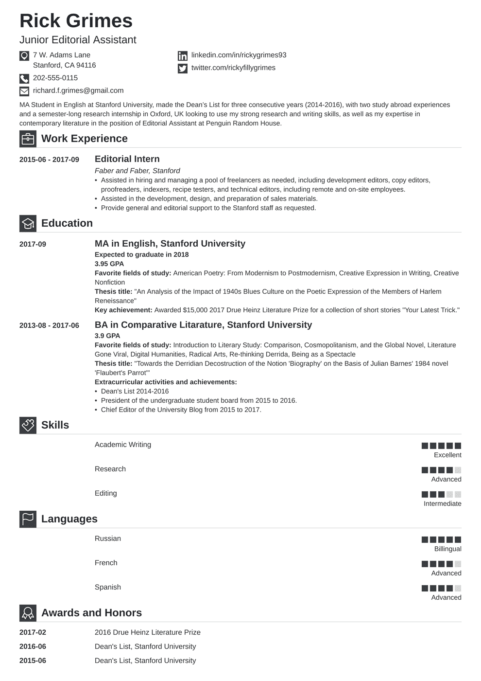 entry level resume template iconic in 2020 Student