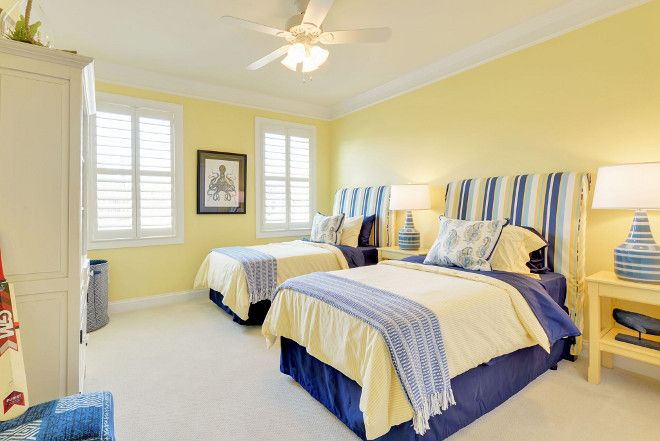 Yellow Bedroom Yellow Bedroom Paint Color Sw6900 Optimistic