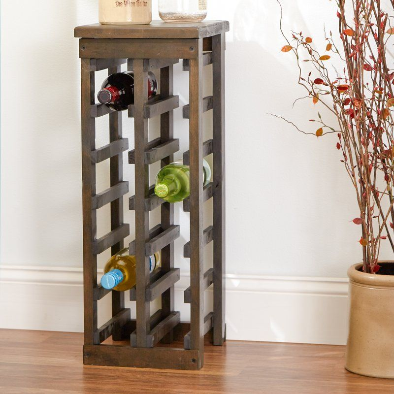 Zanuck 12 Bottle Floor Wine Bottle Rack Only 26 Tall Would Need To Make Up Difference In Height Wine Rack Table Top Wine Rack Wall Mounted Wine Rack