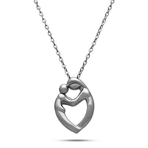 925 sterling silver mom child necklace mother child pendant 925 sterling silver mom child necklace mother child pendant necklace find out more aloadofball Image collections