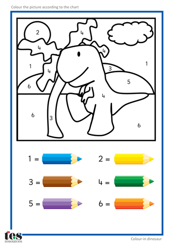 Colour in Dinosaur 3.pdf #dinosaur