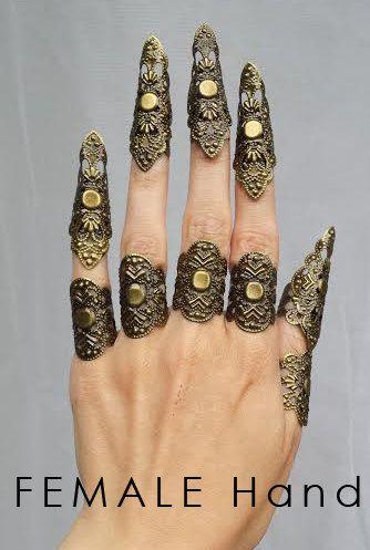 €17.00 Brass claw spike filigree nail fingers