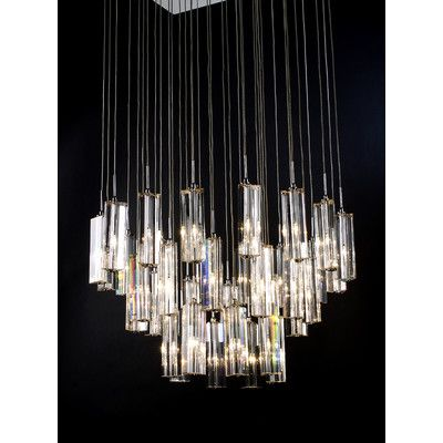 trend lighting corp diamante 36 light crafted chandelier