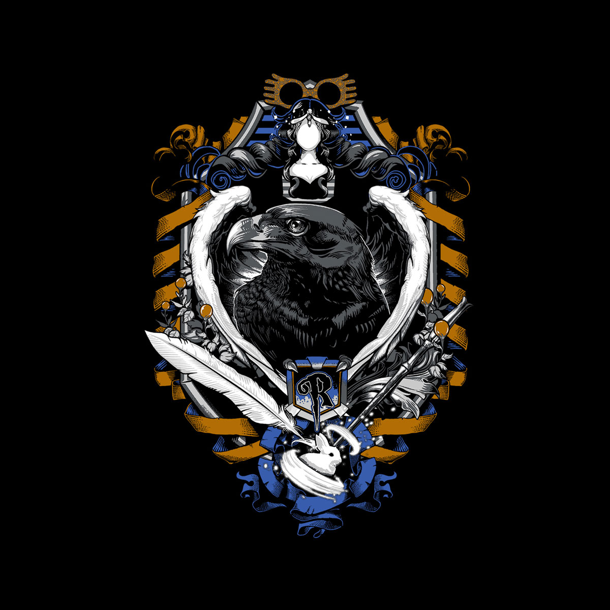 Ravenclaw House Crest Png Google Search Wallpaper Ponsel