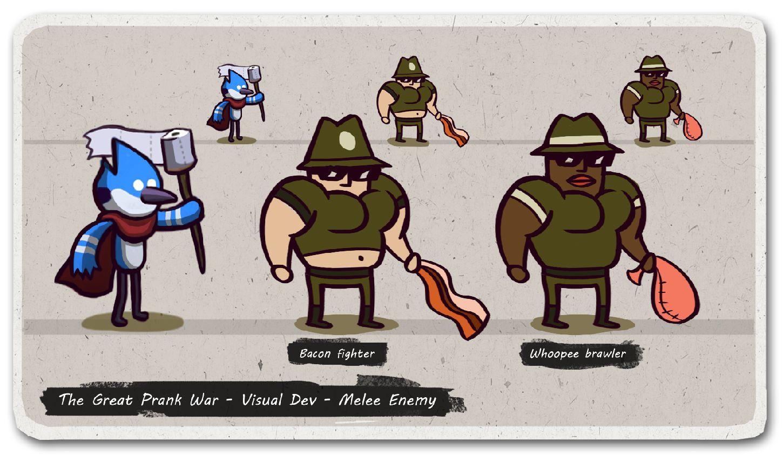 Cartoon Network Games Regular Show The Great Prank War