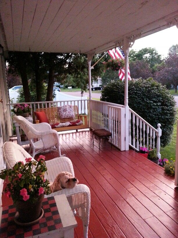 Pin By Melody Laskey On Decorating Ideas Painted Porch Floors Painted Front Porches Porch Paint