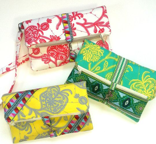 Aggie Ray's Fold Over Clutch Purse - PDF Sewing Pattern