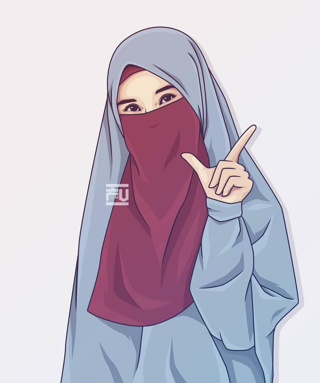 Keterangan Foto Tidak Tersedia Kartun Ilustrasi Karakter Kartun Hijab