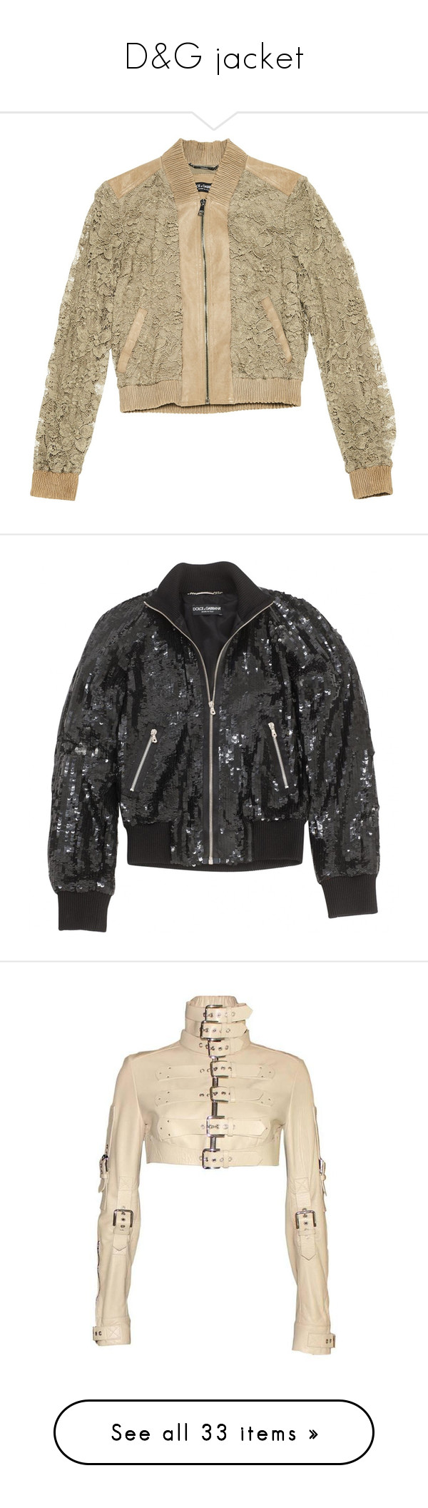 """D&G jacket"" by alinachipchikova liked on Polyvore"