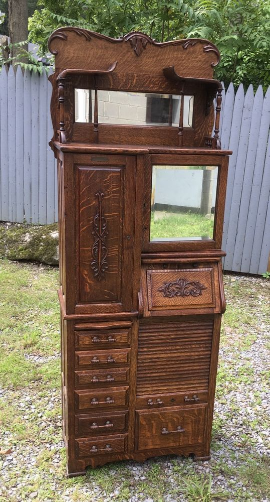 RARE HARVARD OAK DENTAL CABINET, CANTON, OHIO #Victorian ...