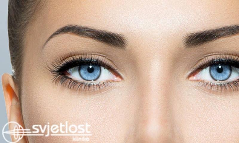 La infezione della cornea inizia con la fotofobia