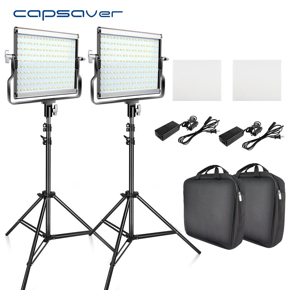 Find More Photographic Lighting Information About Capsaver L4500 2 Sets Led Video Light Kit With Tripod D Photo Lamp Video Lighting Studio Photography Lighting