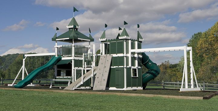 Amish Built Damsel In Distress Castle The Ultimate Swing