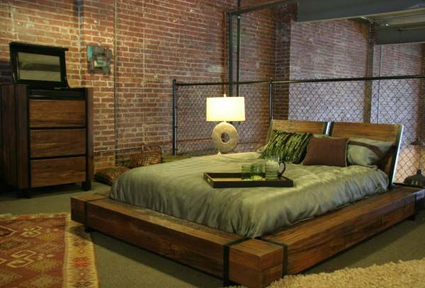 Industrial Bed Bedroom Furniture Design Industrial Style