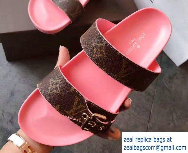 7b1d299a6521 Louis Vuitton Bom Dia Mules Sandals Pink 2017