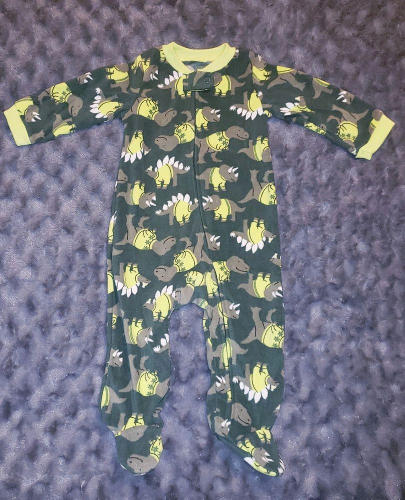 266abc8390a7 NWOT Carters Baby Boy Clothes 6-9 Months One Piece Fleece Dino ...