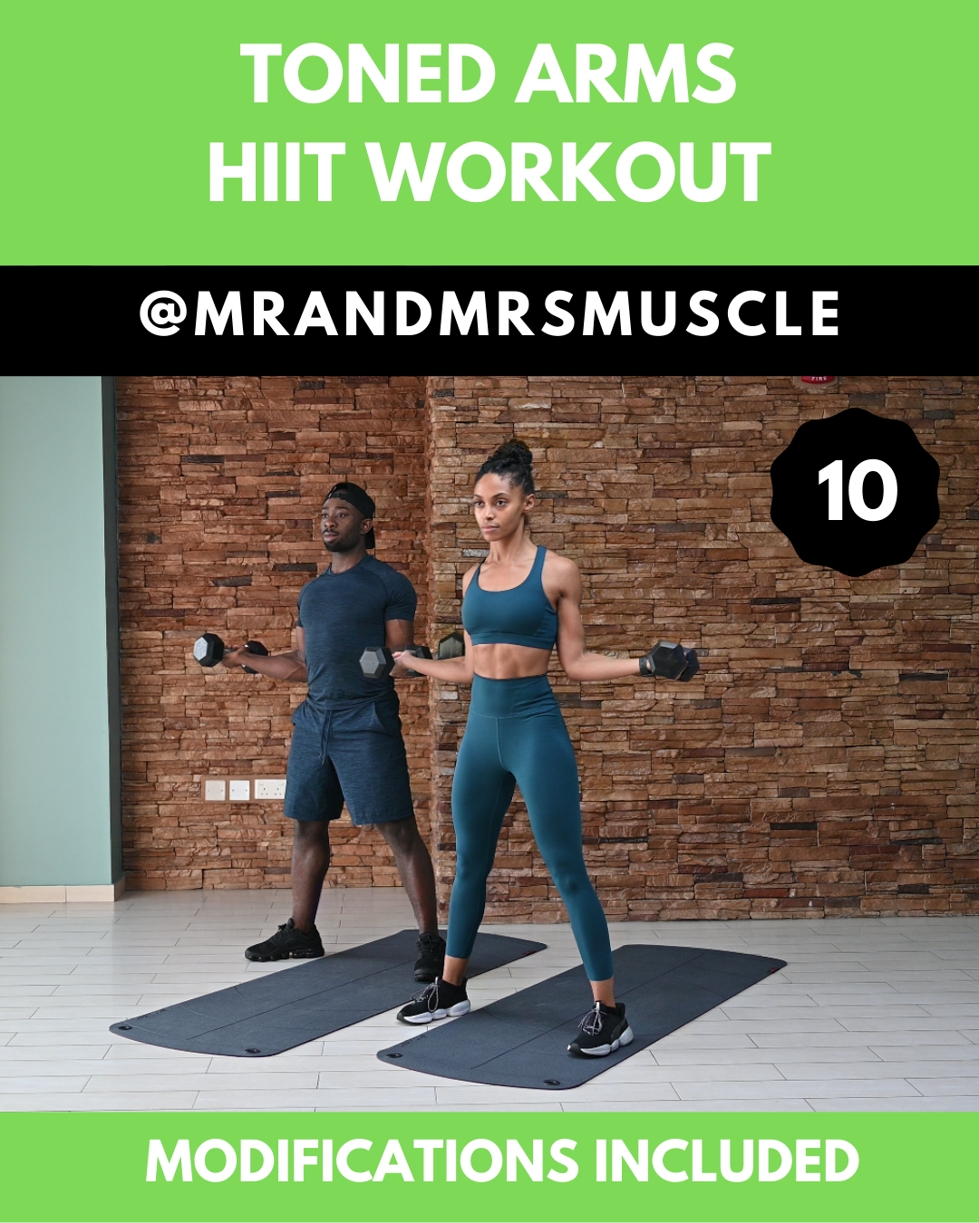 Upper Body Workout - HIIT with modifications #routine