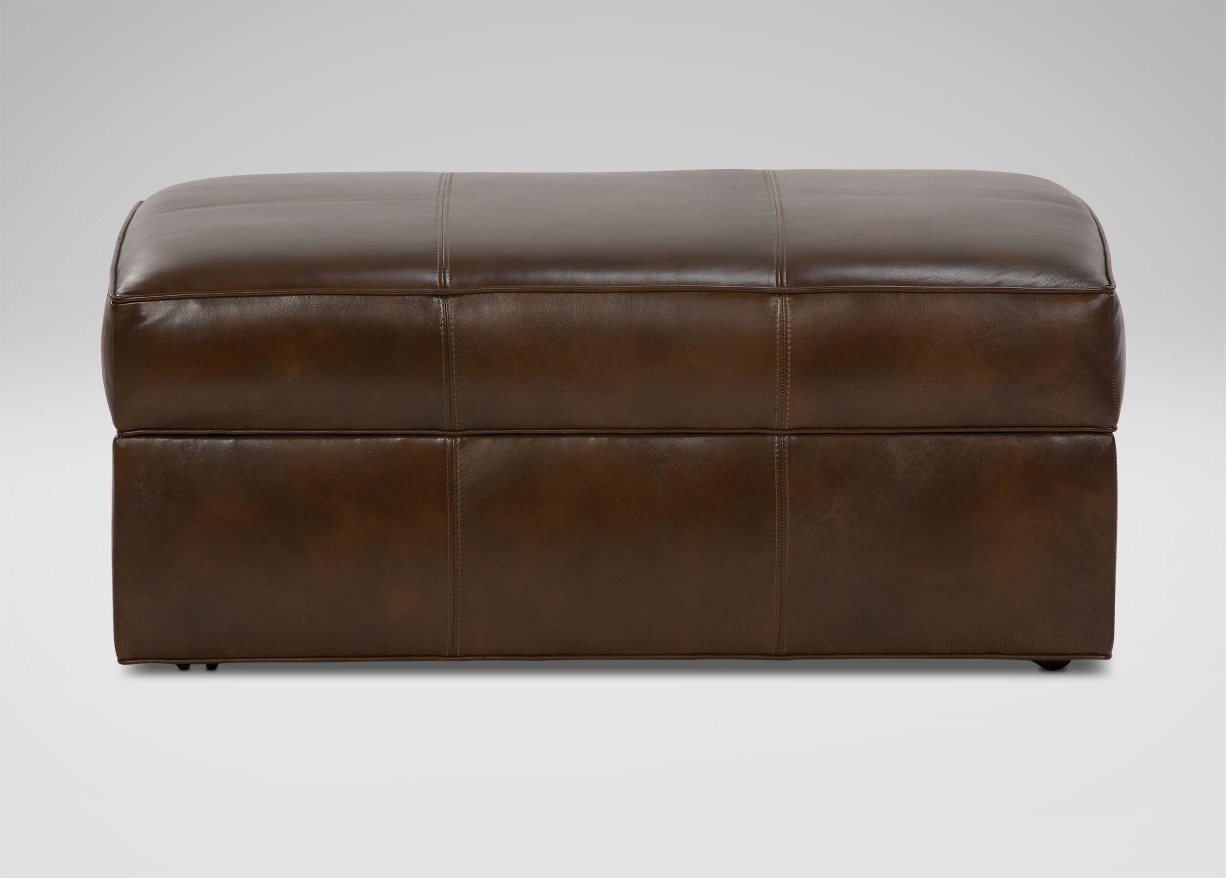 Triad Leather Storage Ottoman