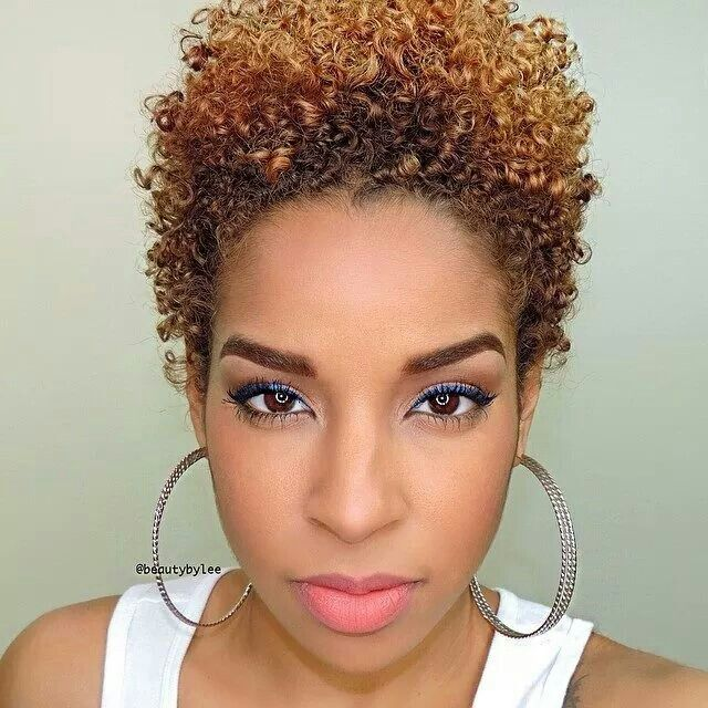 Short Natural Hairstyles With Color: Natural Hairstyles For Short Hair With A Tight Curl