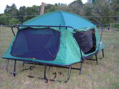 Amazon Com Kamp Rite Tent Cot Double Tent Cot Green Camping Cots Sports Outdoors