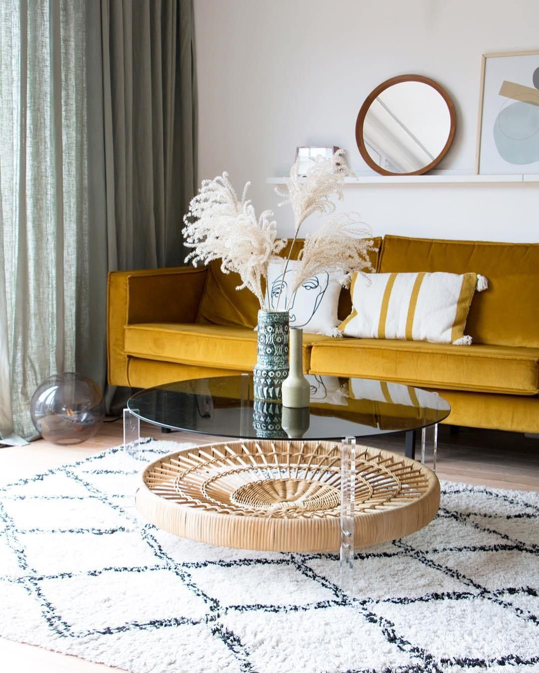 Trend Alert Yellow And How To Use It In Your Home Living Room Green Mustard Living Rooms Living Room Sofa