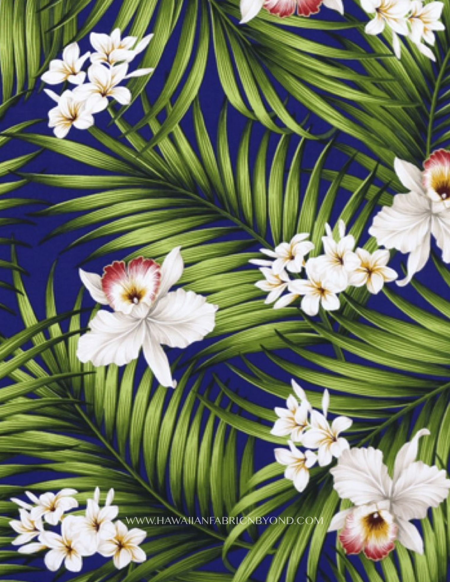 1d24357d30 Rayon Hawaiian fabric #Hawaii #rayon #fabric #palms #orchidflower #tissu  #stoff #tropical #orchids #etsyfinds #sewing