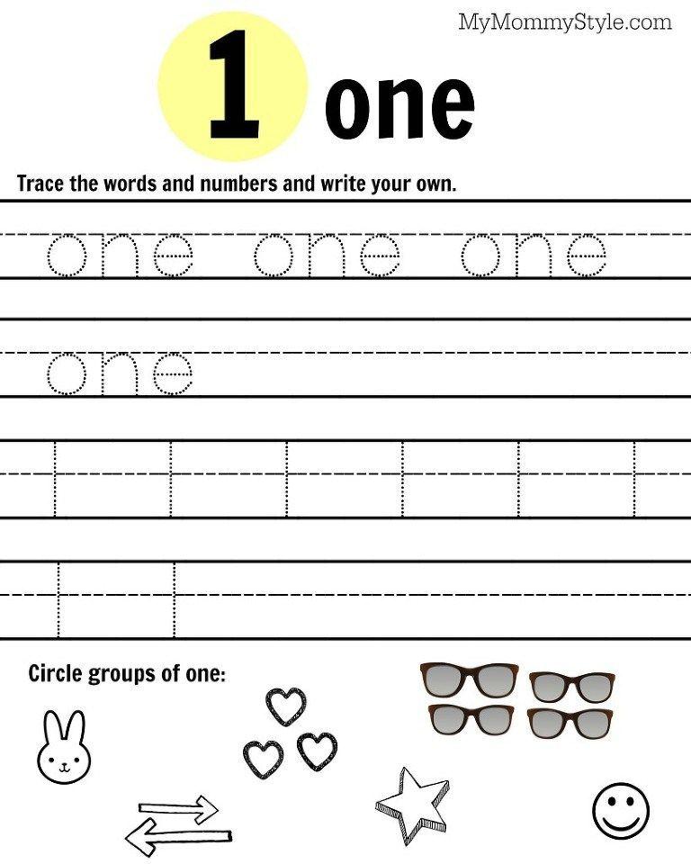 Number 1 worksheet | number tracing | Pinterest | Number ...