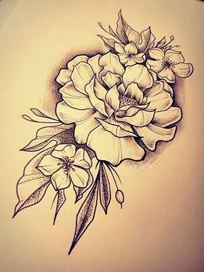 Fiori Tattoo.Roses Tattoo Sketch Made By Taty Tattoo Rose Rosa Flowers Fiori