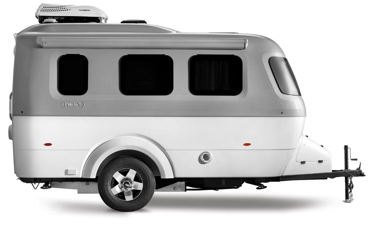 Nest By Airstream A Modern Fiberglass Travel Trailer Fiberglass