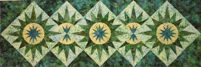Cactus Flower Table Runner, Quiltworx.com, Made by Certified Shop ... : cottonpickers quilt shop - Adamdwight.com