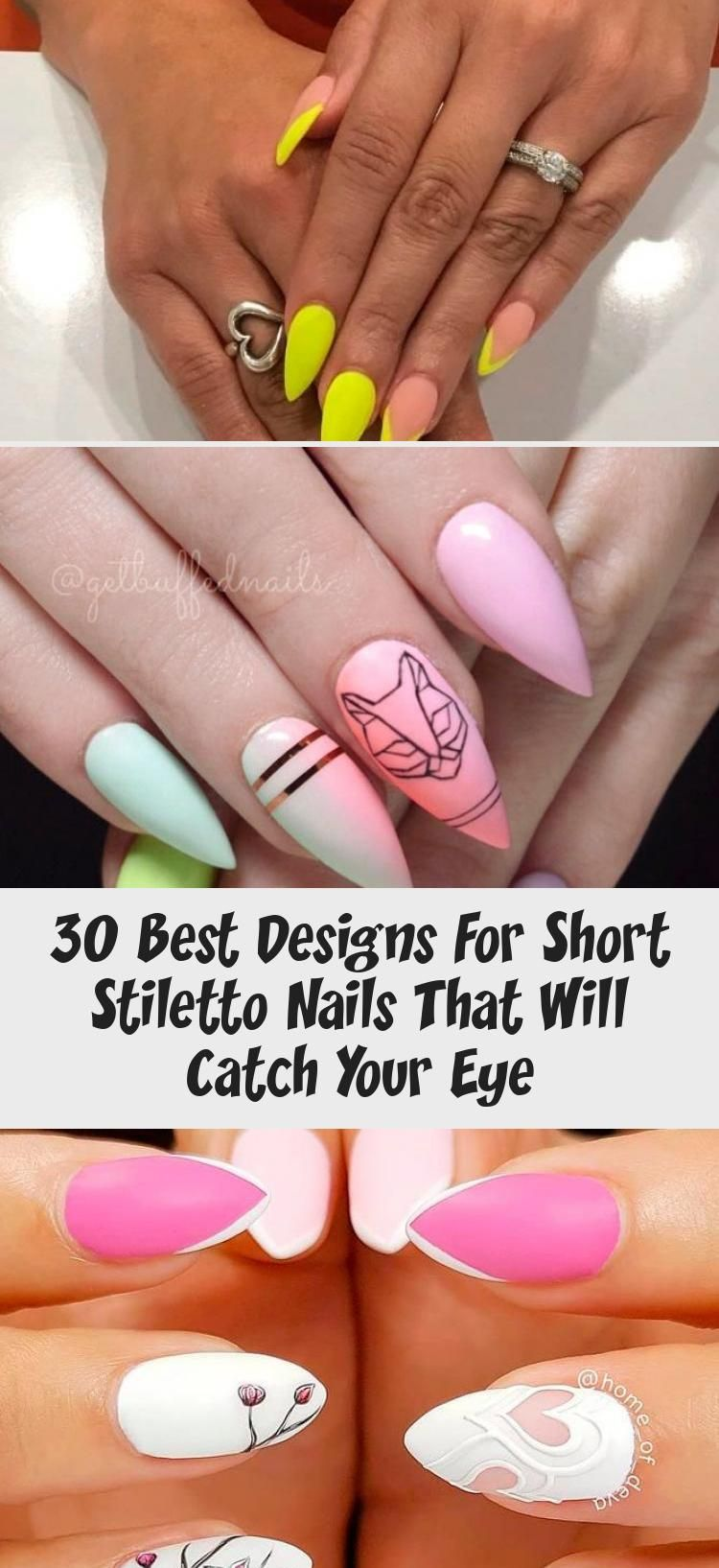 Photo of 30 Best Designs For Short Stiletto Nails That Will Catch Your Eye – Nail Art
