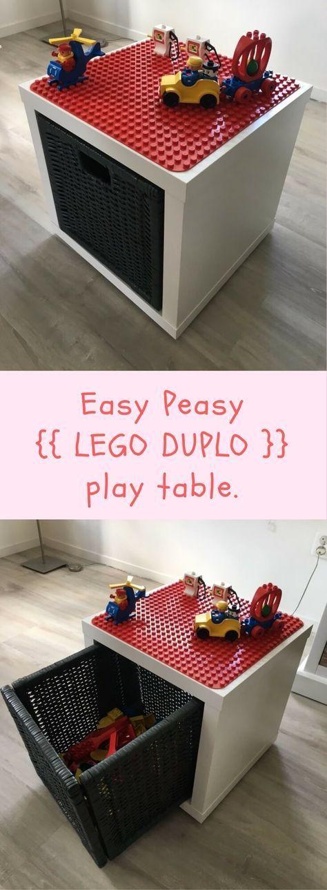 LEGO Duplo Spiel- und Aufbewahrungsbox www.ikeahackers.n ...  #aufbewahrungsbox #duplo #ikeahackers #spiel #kidsbedroomsandthings