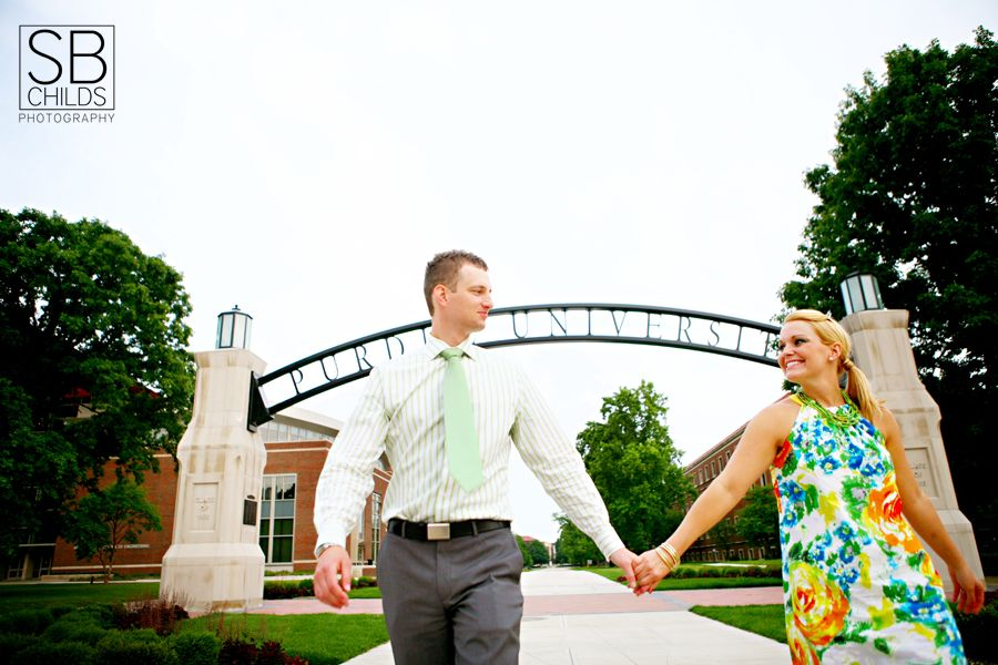 Great photo near the Gateway Arch at Purdue. (Photo by SB Childs Photography)