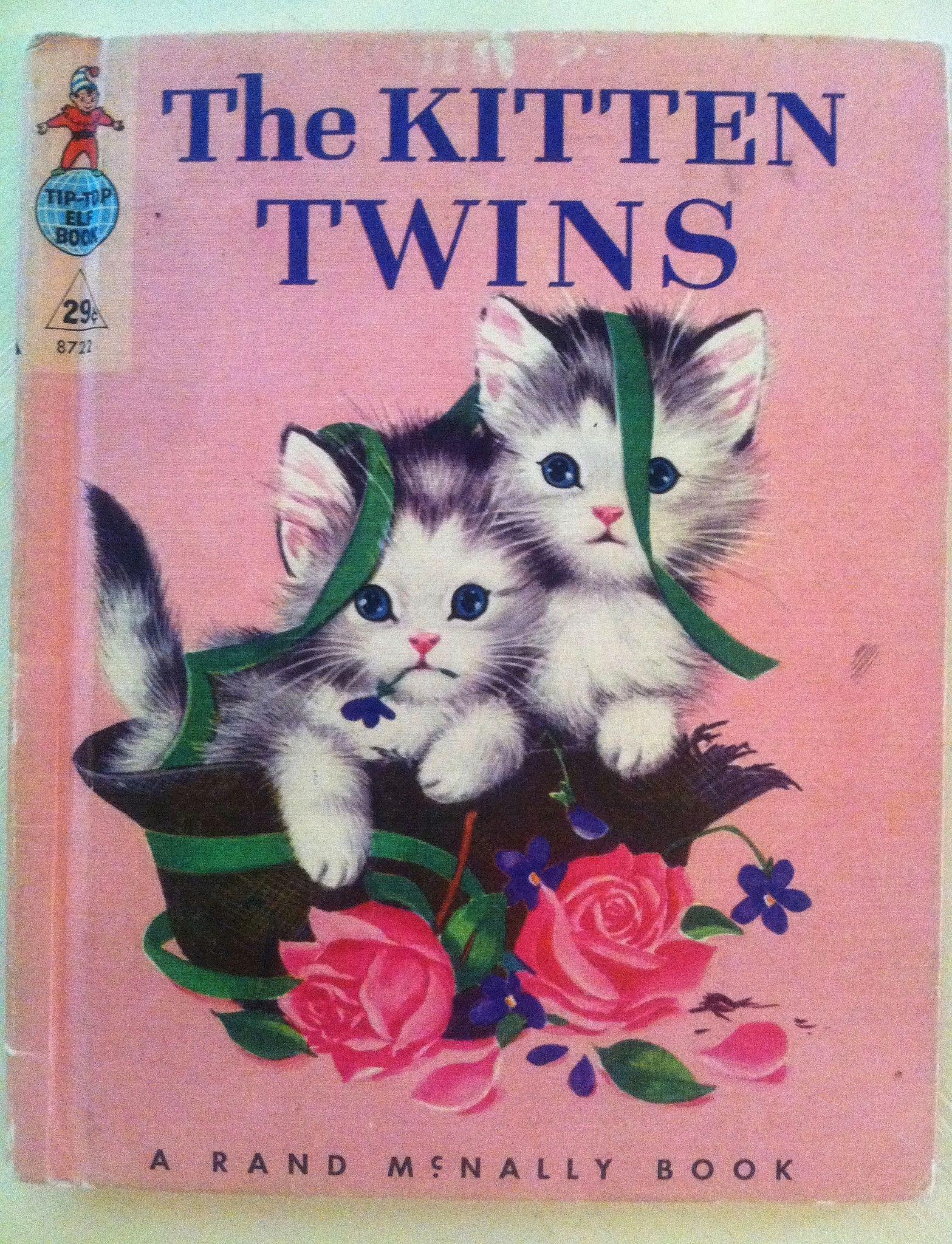 The Kitten Twins Vintage Children S Book Old Children S Books Cat Books Childrens Books Illustrations