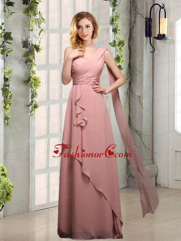 One Shoulder Empire 2015 Dama Dresses with Ruching BMT013DFOR | new ...
