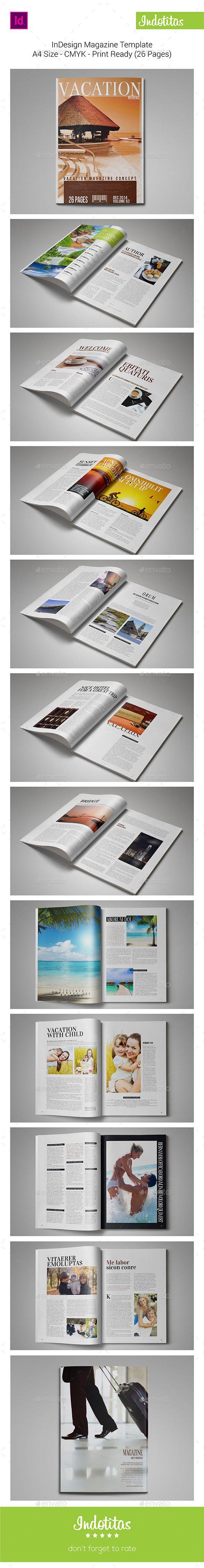Indesign Magazine Template Pinterest Indesign Magazine Templates